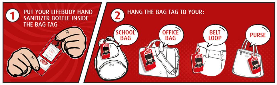 lb sanitizer bag tag