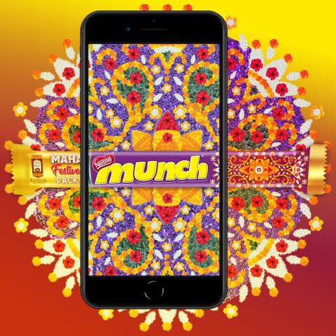 Munch Pookalam AR Filter